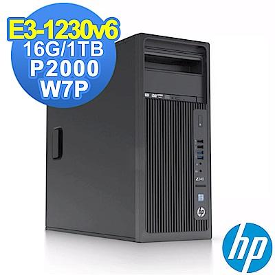 HP Z240 TWR E3-1230v6/16G/1TB/P2000/W7P
