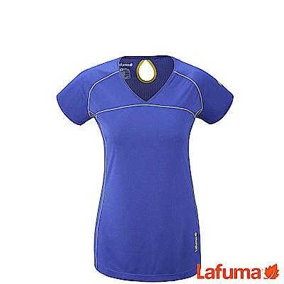 LAFUMA-女SKIM 短袖排汗衣-LFV113428411-藍