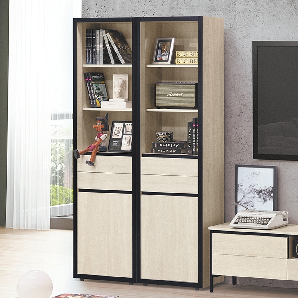 Boden-維森3.7尺收納書櫃組合/展示櫃/置物櫃-110x34x197