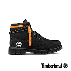 Timberland 男款黑色拉鍊領反摺靴 A24AD