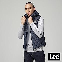 Lee 連帽舖棉背心/深藍色