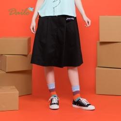 【Dailo】字母造型口袋-裙子(二色)