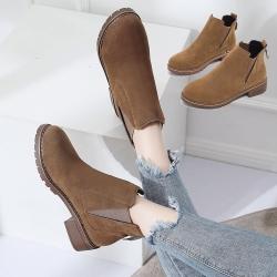 【LN】現貨 英倫復古圓頭短靴(踝靴)