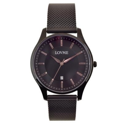 LOVME 文青時尚米蘭手錶-IP黑/41mm