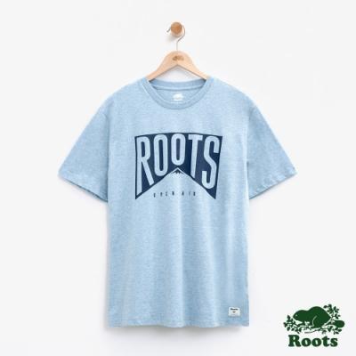 男裝Roots 山峰短袖T恤-藍