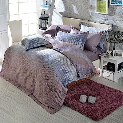 IN HOUSE-stockolm night-300織紗精梳棉-薄被套床包組(加大)