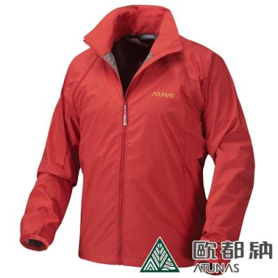 【ATUNAS 歐都納】男Windstopper防風透氣保暖外套A1-G1417M紅