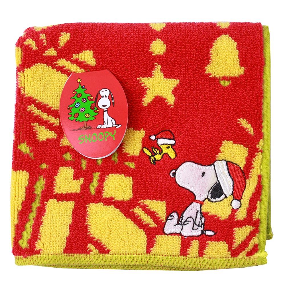 SNOOPY史努比 聖誕派對 小方巾(B款-紅色)