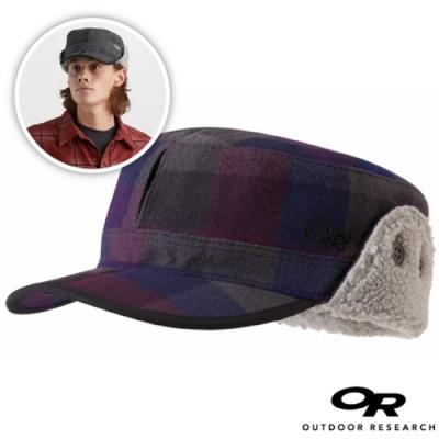 Outdoor Research 新款 YUKON CAP 內刷毛保暖覆耳羊毛帽子/棒球帽(可遮耳)_黑莓格子