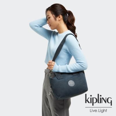 Kipling 知性優雅藍簡約手提肩背托特包-KALA MINI