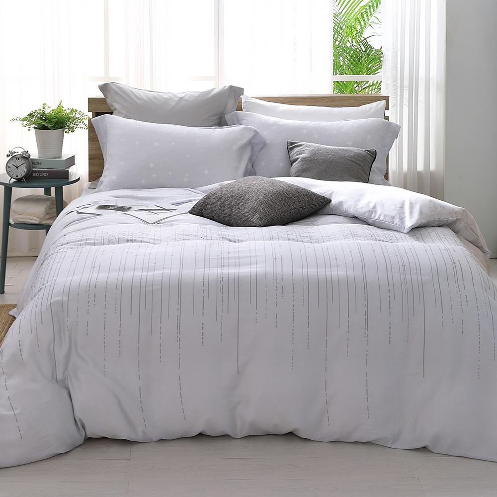 LASOL睡眠屋-300織/100%奧地利天絲 雙人兩用被床包四件組 遇見星戀