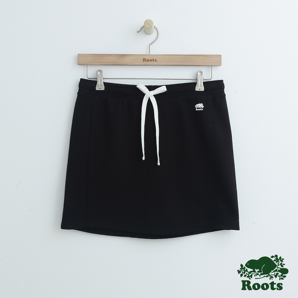 女裝Roots 庫柏海狸短裙-黑