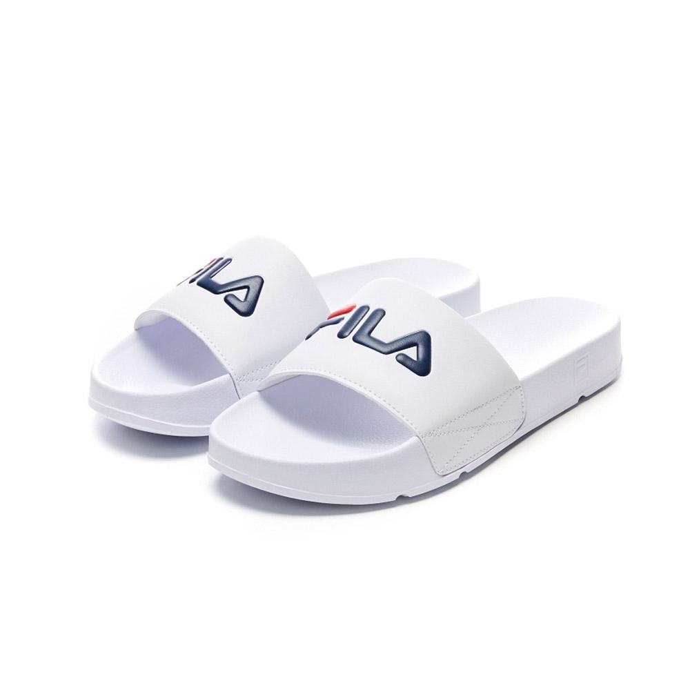 FILA DRIFTER 中性拖鞋-白 4-S138V-100