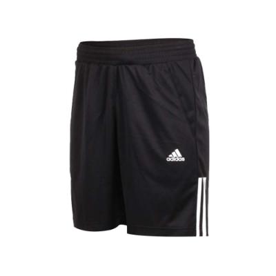 adidas 男運動短褲-五分褲 慢跑 訓練 路跑 愛迪達 黑白
