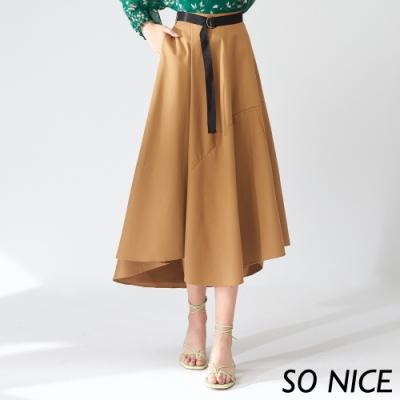SO NICE氣質造型剪接長裙
