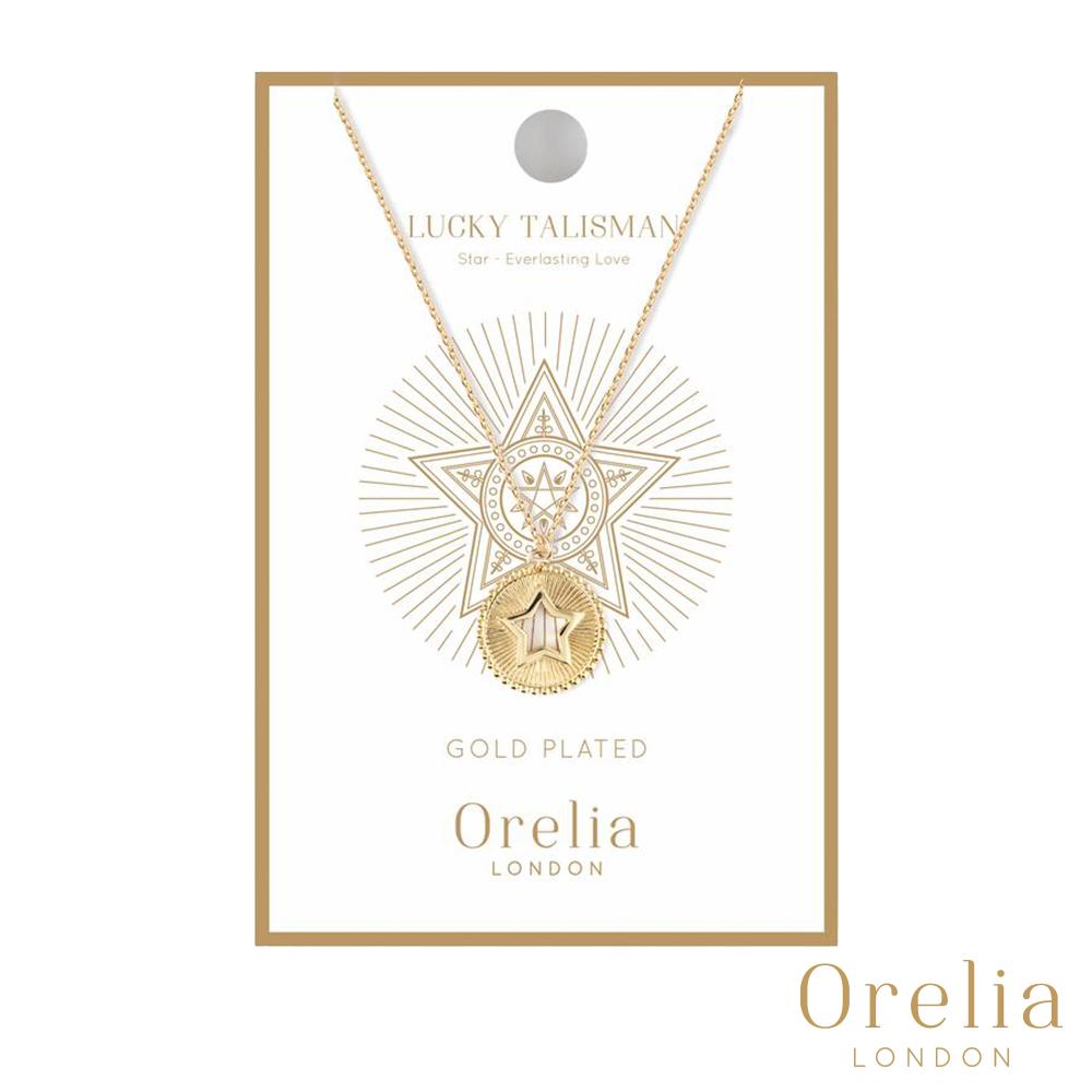 Orelia 英國倫敦 幸運守護星金幣項鍊