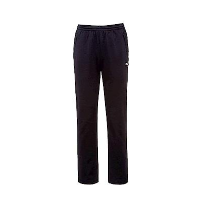 FILA 男款吸濕排汗刷毛長褲-黑 1PNS-5456-BK