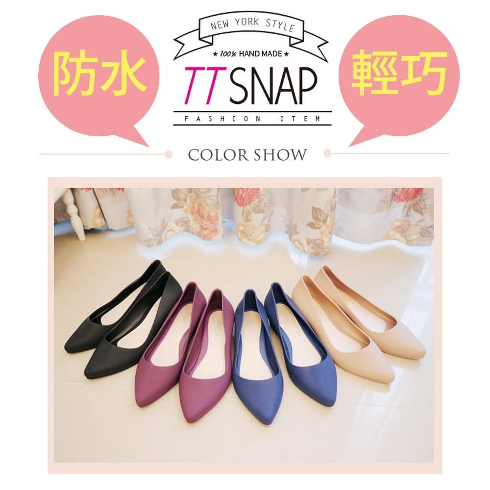 時時樂限定-TTSNAP雨鞋-晴雨兩用粉嫩低跟防水鞋