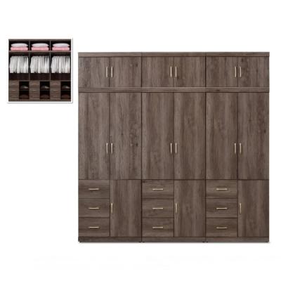 MUNA 凱爾 8 X 8尺灰橡色衣櫥/衣櫃 244.5X56X245cm
