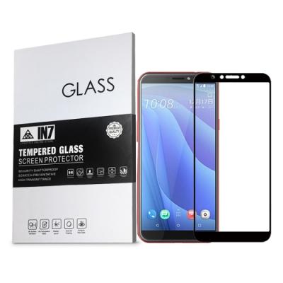 IN7 HTC Desire 12s (5.7吋) 高清 高透光2.5D滿版9H鋼化玻璃保護貼 疏油疏水 鋼化膜-黑色