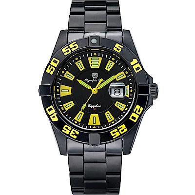 Olympia Star 奧林比亞之星 夜空使者炫彩氚氣石英腕錶-黃  98019TGB