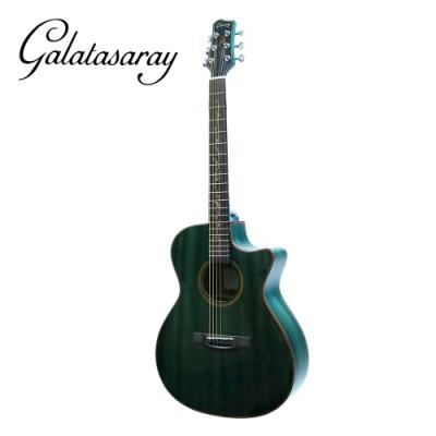 Galatasaray GA10 BL 41吋面單桃花心木民謠木吉他 湖水綠款