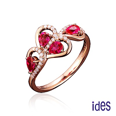 ides愛蒂思 歐美設計彩寶系列紅寶碧璽戒指/熱情