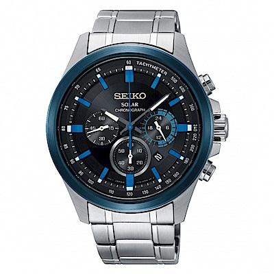SEIKO Criteria三眼計時太陽能腕錶/SSC683P1/V175-0ER0A