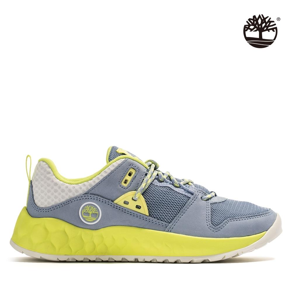 Timberland 女款中藍色GreenStride磨砂革綁帶設計運動鞋|A2BTC