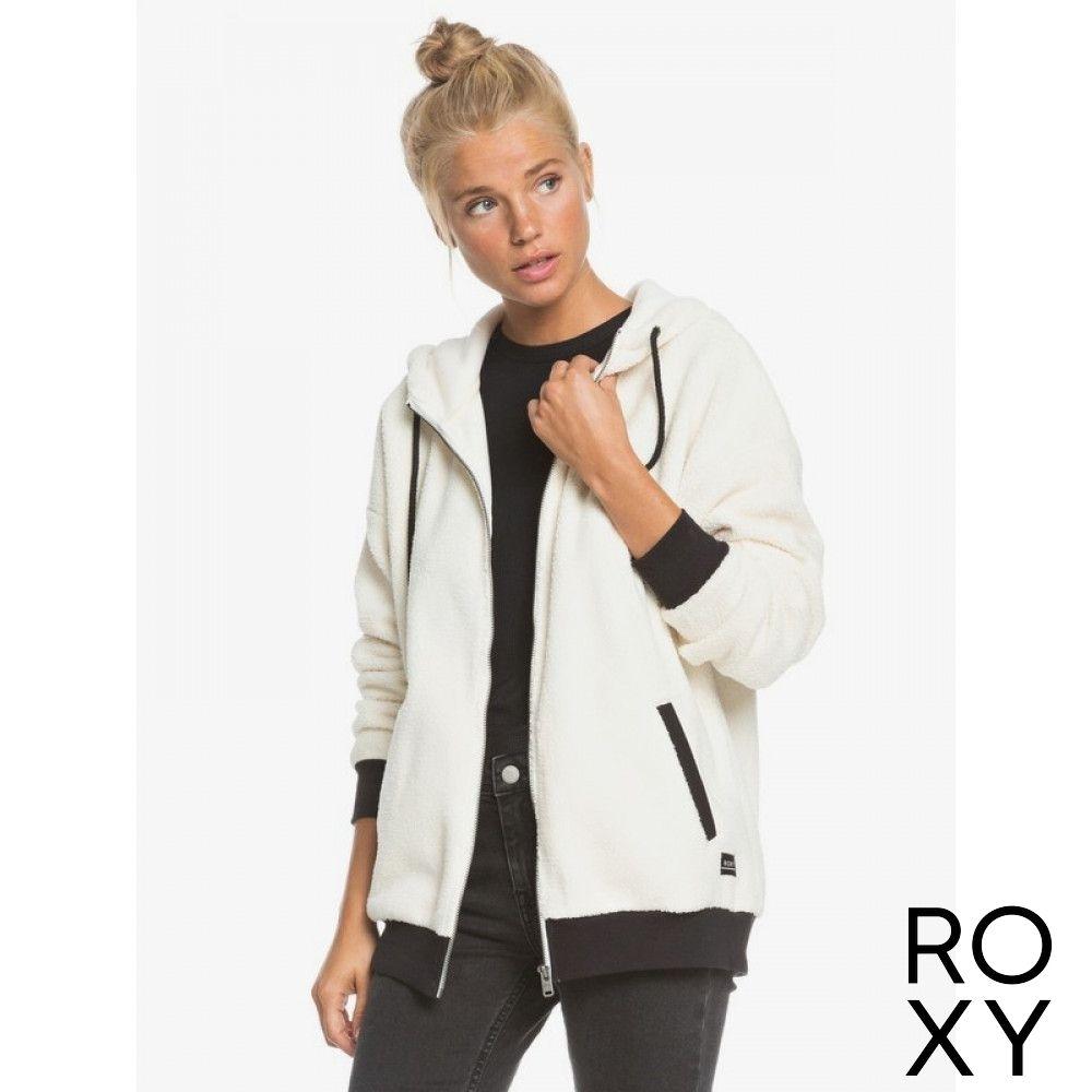 【ROXY】BELONG TOGETHER 連帽外套 白色