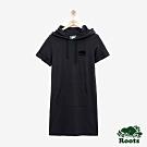 女裝Roots-海狸短袖連帽洋裝-黑