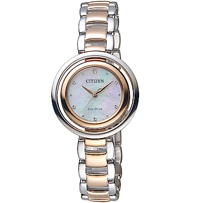 CITIZEN星辰L系列經典饗宴時尚腕錶(EM0666-89D)