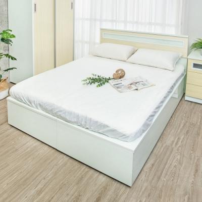Birdie南亞塑鋼-3.5尺單人加高型側掀塑鋼床組(床頭片+加高側掀床底)(黃橡木色)