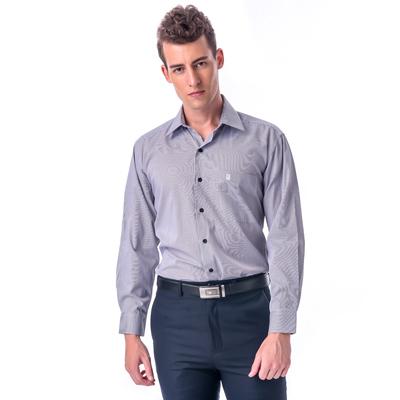 金‧安德森 黑白細線條長袖襯衫fast