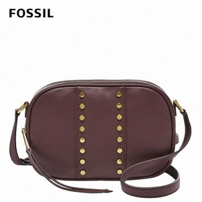 FOSSIL 母親節優惠 Maisie 鉚釘個性時尚相機包-深磚色 SHB2423599