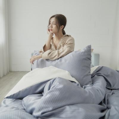 BUHO 台製300織100%TENCEL純天絲床包被套四件組-雙人加大(時光清淺)