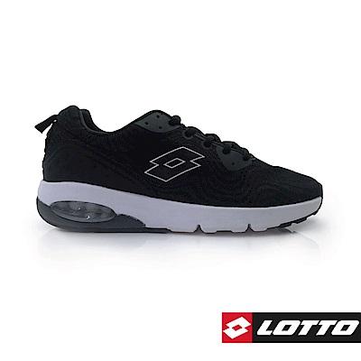 LOTTO 義大利 男 WIND SPEED避震跑鞋 (黑)