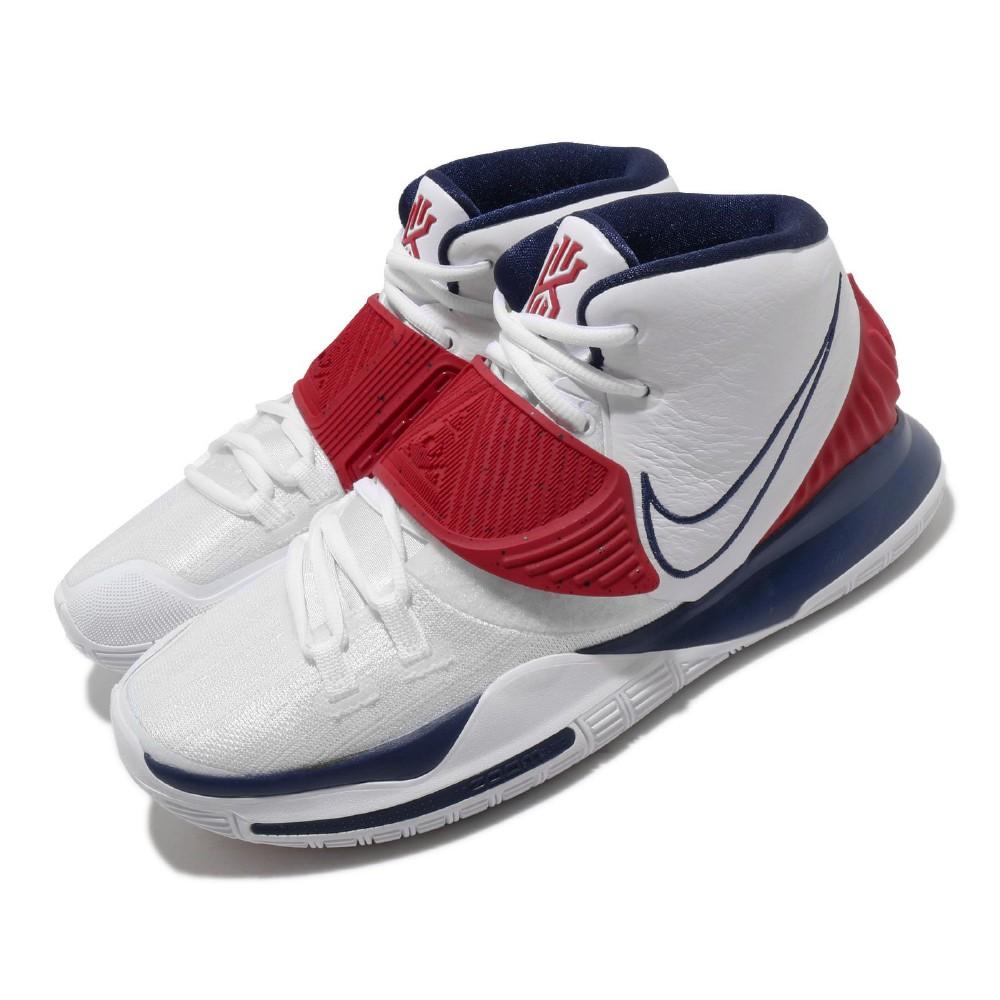 Nike 籃球鞋 Kyrie 6 EP USA 男鞋 厄文 中筒 避震 球鞋 美國隊 白 藍 BQ4631102