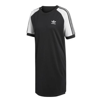 adidas 連身裙 休閒裙 連身洋裝 短袖 女款 黑 CE4961 Original RAGLAN DRESS