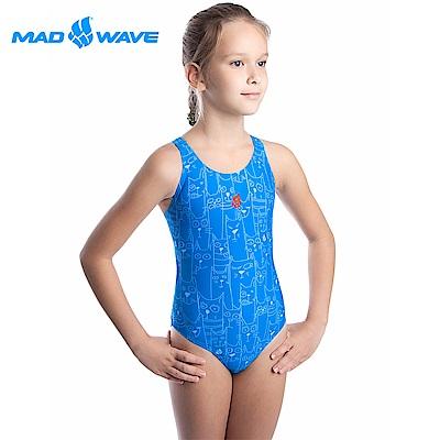 俄羅斯 邁俄威 女童款連身泳衣 MADWAVE CATS PLATOON