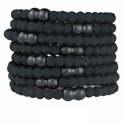 Pro Hair Tie 扣環髮圈8件組-黑色