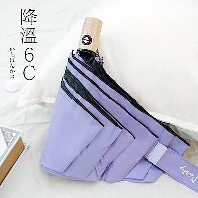 好傘王 自動傘_不透光文青黑膠輕大傘(紫色)