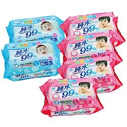 Weicker-純水99%日本製濕紙巾一般型6包手口專用12包