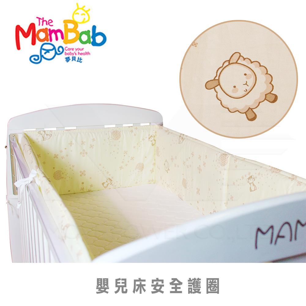 《夢貝比》小熊友友-加高型嬰兒床單護圈-黃(M)