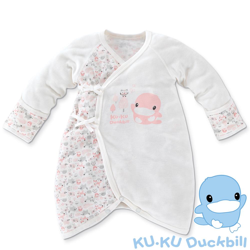 KU.KU酷咕鴨-竹纖有機棉反袖蝴蝶裝-03/06(藍/粉)-2768