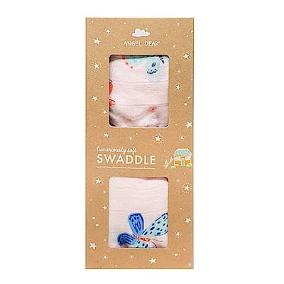 美國 Angel Dear 竹纖維嬰幼兒包巾禮盒 (彩蝶)