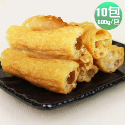 皇覺 火鍋好朋友鍋物必備老油條家庭號10包(600g/包,約50-55根)