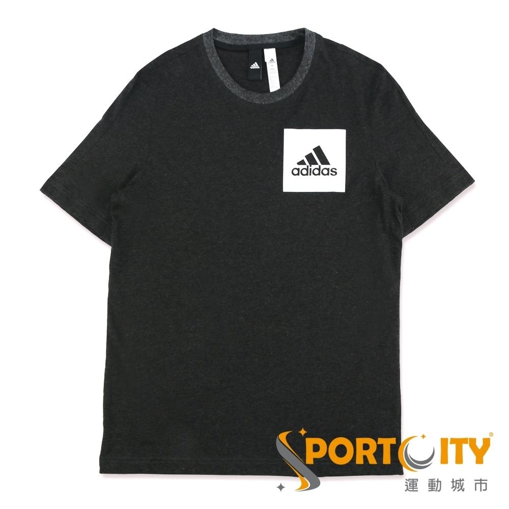 ADIDAS ESS CHEST LOGO 男短袖T恤 黑 BS4861