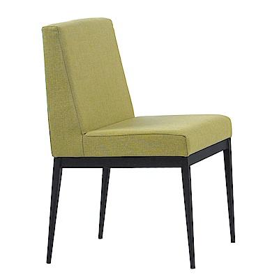 文創集 雷恩時尚亞麻布造型餐椅組合(二入組+四色可選)-47x50x81cm免組
