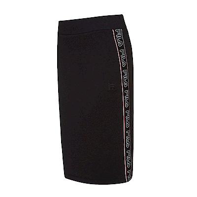 FILA #東京企劃-原宿篇 針織窄裙-黑 5SKS-5441-BK